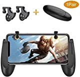#4: KACOOL Game Trigger Controller Gamepad /Sensitive Shoot and Aim Fire Buttons L1R1 for PUBG / Knives Out / Mobile Gaming Joysticks for Android iPhone