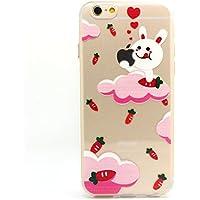 JIAXIUFEN TPU Gel Silicone Protettivo Skin Custodia Protettiva Shell Case Cover Per Apple iPhone 6 Plus / iPhone 6S Plus - Divertente Capriccioso Design Yummy Bunny - Yummy Bunny