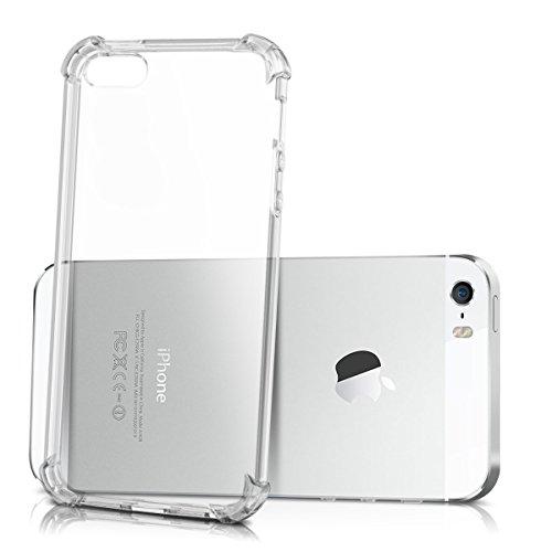 kwmobile Crystal Hülle für Apple iPhone SE / 5 / 5S TPU Silikon Case mit Ecken Schutz - dünne durchsichtige transparente Smartphone Schutzhülle Cover in Transparent .Transparent