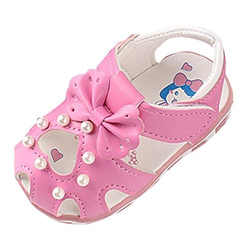 Alwayswin Baby Mädchen Geschlossene Sandalen Neugeborenes Weich Bequem Kleinkindschuhe Süß Mode rutschfest Babyschuhe Einzelne Schuhe Sommer Slip-On Klettverschluss Sandalen Velours-activewear-set