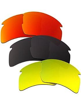 Hkuco Plus Mens Replacement Lenses For Oakley Flak 2.0 XL Red/Black/24K Gold Sunglasses