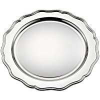 Royal Queen Bajo Plato Plateado estilo700 cod.546032 cm diam.32 by Varotto &