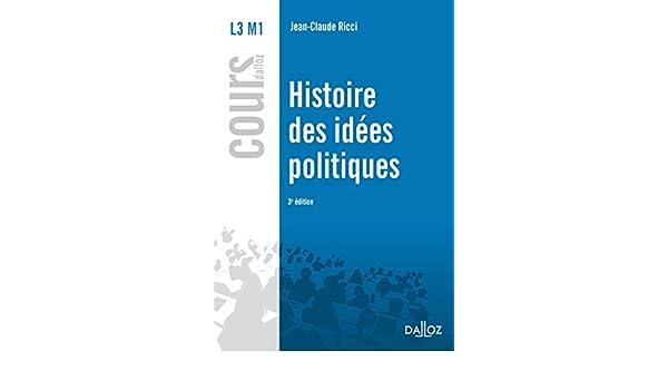 Amazon.fr , Histoire des idées politiques , 3e éd. , Jean,Claude Ricci ,  Livres
