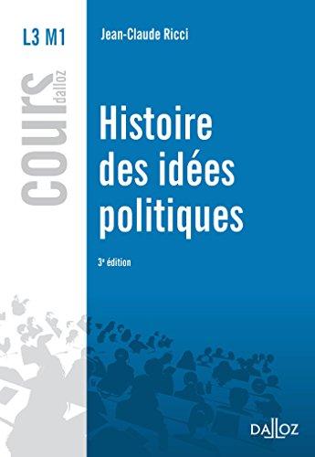 Histoire des idées politiques - 3e éd. par Jean-Claude Ricci