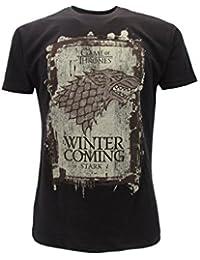 T-Shirt Camiseta WINTER IS COMING Familia Casa STARK Serie de Televisión JUEGO DE TRONOS