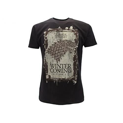 T-Shirt Camiseta Winter IS Coming Familia Casa Stark Serie de Televisión Juego DE Tronos Game of Thrones - 100% Oficial… 1