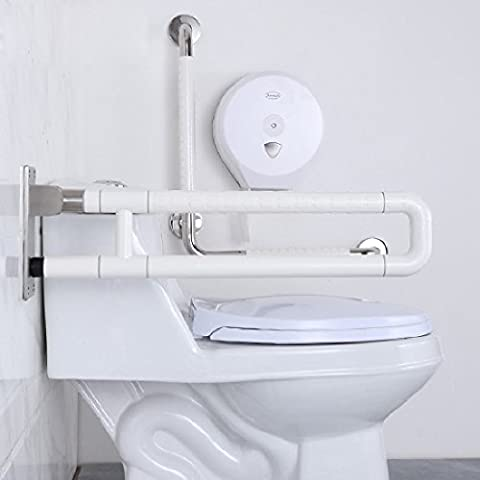 KHSKXBarrière résistant patin libre Rails poignée pliable personnes âgées handicapées Salle de bain wc toilettes toilettes nylon double - Bed Hardware Parti