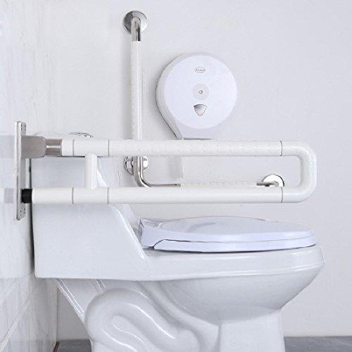 KHSKXRutschfestem barrierefrei Klappgriff Schienen ältere behinderte Bad WC WC WC Doppel Nylon