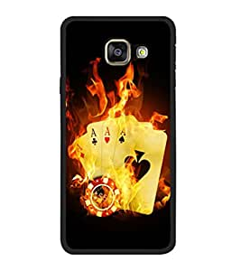 printtech Burning Poker Cards Back Case Cover for Samsung Galaxy A7 (2016) :: Samsung Galaxy A7 (2016) Duos with dual-SIM card slots