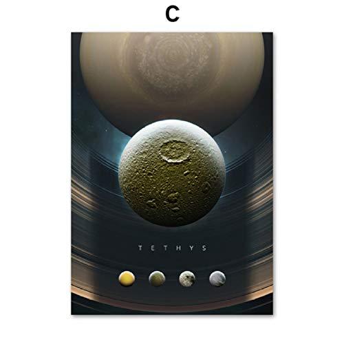 Urano Planeta Sistema Solar Satelital Arte pared Pintura