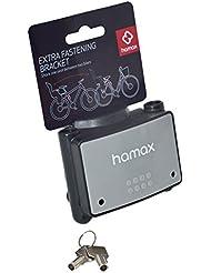 Hamax Abschliessbare Halterung Fastening Bracket W/lock, schwarz/medium grau, HAM604002