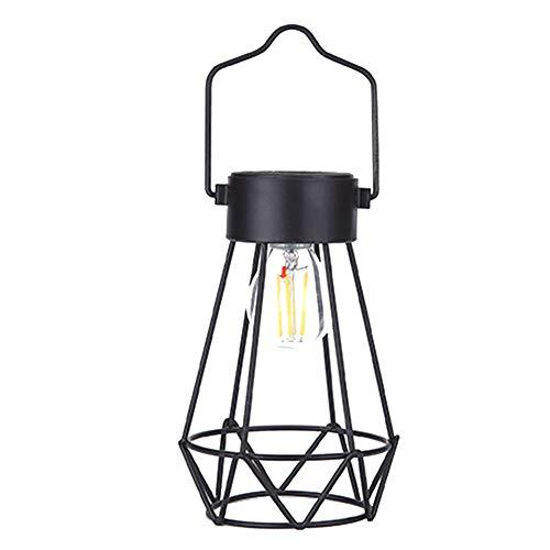 Eisen Outdoor-hängenden Laterne (HOMYY Solar-Laternen Lampen - Vintage Eisen Design Dekoration Licht Outdoor Hängende Dekorative Tischlichter Nachtlicht für Terrasse Garten Hof, Rasen, 1 Pc, Free Size)
