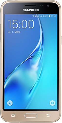 Samsung Galaxy J3 (2016) DUOS Smartphone (12,63 cm (5 Zoll) HD Super-AMOLED-Touchscreen, 8 GB, Android 5.1 Lollipop) gold