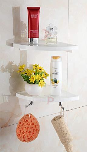 BAOJINWOX Modernes Badezimmerregal aus Edelstahl, doppelt lackiert, Eckkorb, Kücheninstallation, Badezimmerzubehör, Gelb