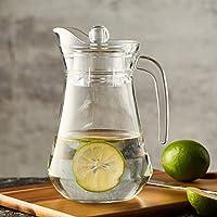 BHOOMI Aquatic Glass jug Pitcher with Lid 1.3 LTR (1)