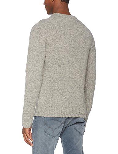 Wood Wood Herren Pullover Kevin Sweater Grau (Light Grey)