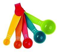 HAPPY LIFESTYLE 5 PCs Mini Measuring Spoon Set (Multi Colour)