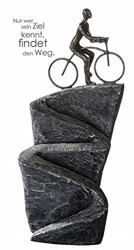 Casablanca Skulptur, Figur, Objekt, Dekoobjekt - Aufwärts, Fahrrad - Höhe: 37 cm - Poly
