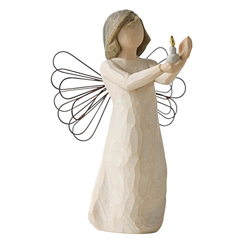 Willow Tree 26235 Figur Engel der Hoffnung, Angel of Hope, 3,8 x 3,8 x 14 cm -