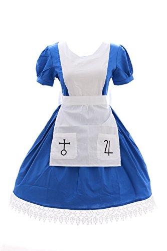JL-629 blau Alice Madness Maid Zofe Zimmermädchen Gothic Lolita Kleid Set Kostüm Cosplay (EUR (Maid Gothic Kleid)