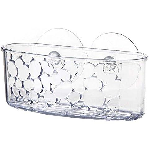 Estante de baño y Cocina, Organiza Fácil POLIESTIRENO 16,80 X 6,60 X 5 CM Con ventosas-