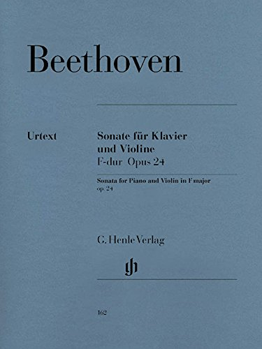 Sonate F dur opus 24 für klavier und violine, frühling/Sonata for piano and violin in F major op 24, spring/Sonate en Fa majeur op 24 printemps pour piano et violon