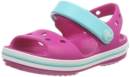 Crocs Kid's Crocband Sandal Open Toe, Rose (Candy Pink/Pool 6lh), 12 UK Child 29/30 EU