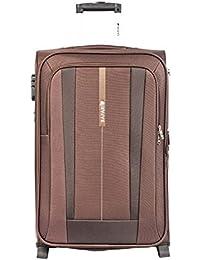 Safari Revv Polyester 55 cms Brown Softsided Carry-On (Revv-55-Brown-2wh)