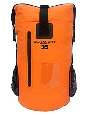 Premium 35L Waterproof Dry Bag Backpack, Sack with Phone Dry Bag, Perfect for Boating/ Kayaking / Canoeing / Fishing / Rafting / Swimming / Camping / Snowboarding by Ultra Dry Adventurer