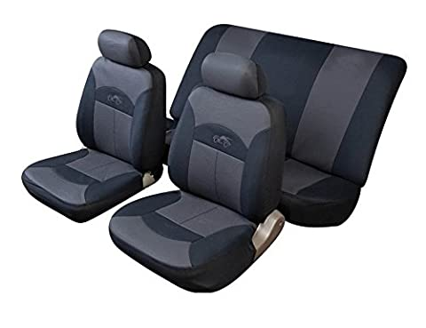 XtremeAuto® Universal CELSIUS Hi-Back Car Seat Covers in GREY & Black
