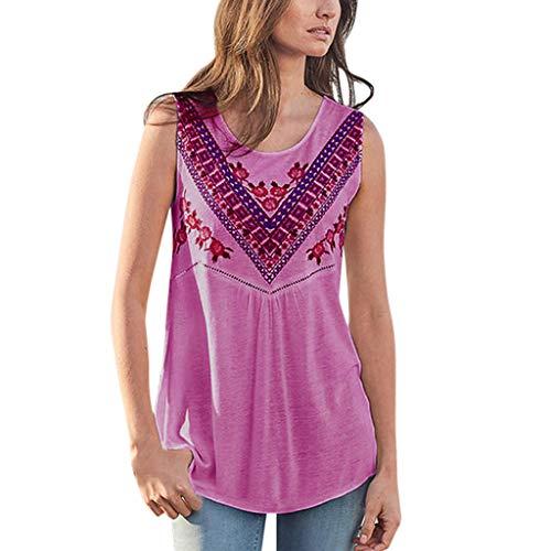Junjie Damen Sommer Mode lässig O-Ausschnitt gedruckt aushöhlen Weste Tops weiß rosa Mint grün lila Spitzen träger Spitzensaum Ausschnitt ärmelos Chiffon Party