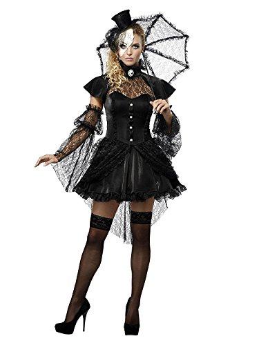 Generique - Gothic-Puppe Halloween Damen-Kostüm M (40/42) (Ragdoll Kostüm)