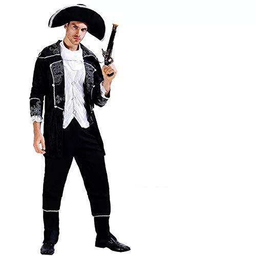 thematys® Costume da Pirata per Uomo - Perfetto per Cosplay, Carnevale e Halloween - Taglia Unica 160-180 cm