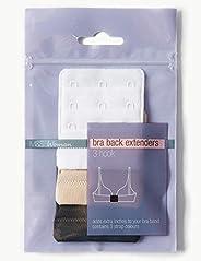Marks & Spencer Women's 3 Pack 3 Hook Bra Extenders, One Size, Multi