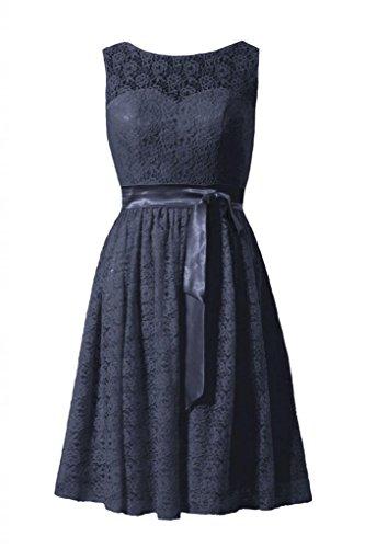 daisyformals courtes en dentelle robe de demoiselle dhonneur à Vintage Robe en dentelle Parti (bm43225) Bleu - #35-Navy
