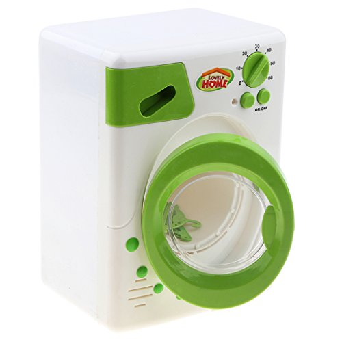 Homyl Kinderküche als Hausfrau Rollenspiele Spielzeug - Mini Elektrische Küchen- und Haushaltsgeräte Spielzeug für Kleinkind - Grün, Waschmaschine