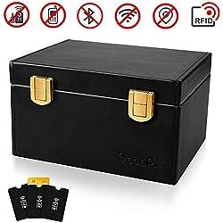 OCOOPA Faraday Box, Signal Blocker Box for Car Keys Fob Phones Cards, Call & RFID Signal Blocking Case Car Key Safe Box, Keyless Cars Security Anti Theft Large Storage Box