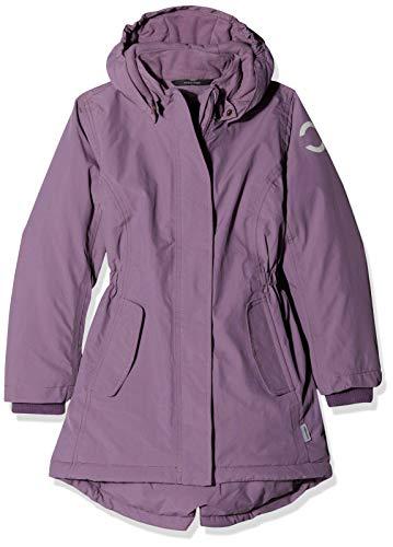 mikk-line Mädchen Nylon Wintermantel (Wassersäule 8000) Jacke, Violett (734 Light Grape), 104 Nylon Wintermantel