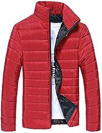 MEIbax Cazadora de Hombre Abrigo de Stand Collar Slim de Invierno Caliente Chaqueta Capa Gruesa de Cremallera Cazadora Casual Outwear