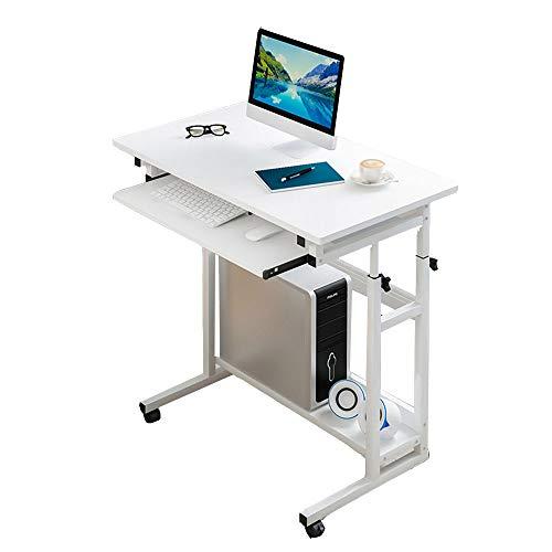 Tables FEI - Bureau d'ordinateur d'ordinateur latérale de lit de Levage de Bureau d'ordinateur démontable avec la à roulettes en Bois Solide réglable avec l'appui de Clavier pour Tous Les postes