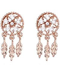 f12657c7e11d Earrings Home Aretes Redondos Elegantes de circón 925 Pendientes  geométricos de Moda Estrella Pendientes antialérgicos