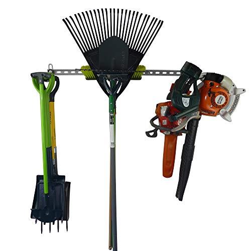 Aufbewahrungssystem für Gartenwerkzeuge, zur Aufbewahrung von Gartengeräten in 1 m Wandfläche, zur Wandmontage, Garage, hochwertig, strapazierfähig, hergestellt in Großbritannien