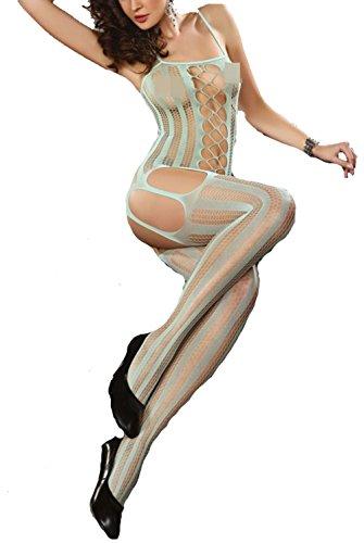 Catsuit im Straps-Look - mit offenen Schritt - ouvert S-L Livia Corsetti Fashion Farbe ()