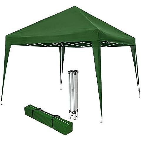 TecTake Gazebo plegable jardín fiesta tienda de campaña carpa pabellón 3x3 m con funda de transporte verde