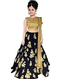 Rudra Zone girl's wedding lengha choli for(12-15 year girl's) (NEVY BLUE)