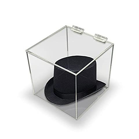 Displaysense Clear Acrylic Perspex Box Display Case With Acrylic Lid - 300mm Square