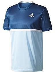 adidas Court Tee Camiseta de Tenis, Hombre, Azul (Azunoc/Onicla/Blanco/Azuhie), M