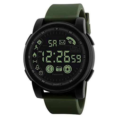 Huacat Herrenuhr Outdoor Smart Watch Sport Bluetooth wasserdicht Silikonband Bluetooth Wecker Herrenuhren