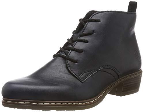 Rieker Damen Stiefeletten Y0843, Frauen Schnürstiefelette, Boot halb-Stiefel schnür-Bootie übergangsschuh Damen Frauen Lady,Navy,42 EU / 8 UK