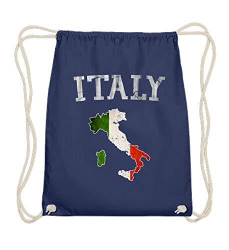 SwayShirt Italy Italia Italien Flagge Vintage Stolz Geschenk - Baumwoll Gymsac